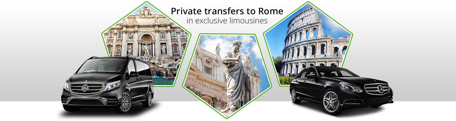 Private transfer to Rome in exclusive limousines